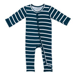 Navy Blue & White Stripe One Piece