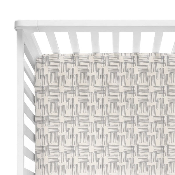 Rivers Gray Crib Sheet - FINAL SALE