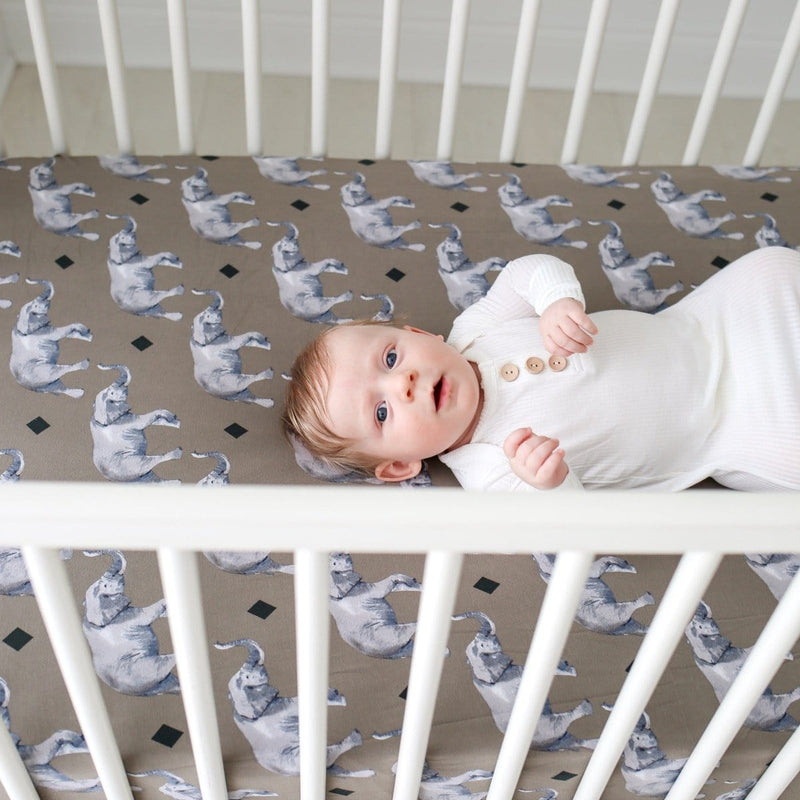 Rocco Elephant Crib Sheet