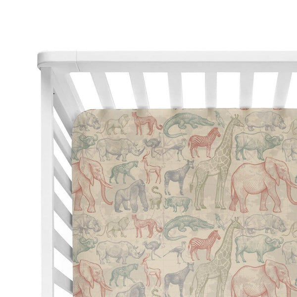 Safari Crib Sheet - FINAL SALE