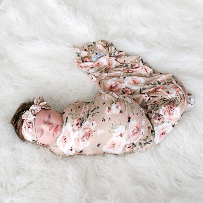 Sienna Floral Swaddle Headband Set