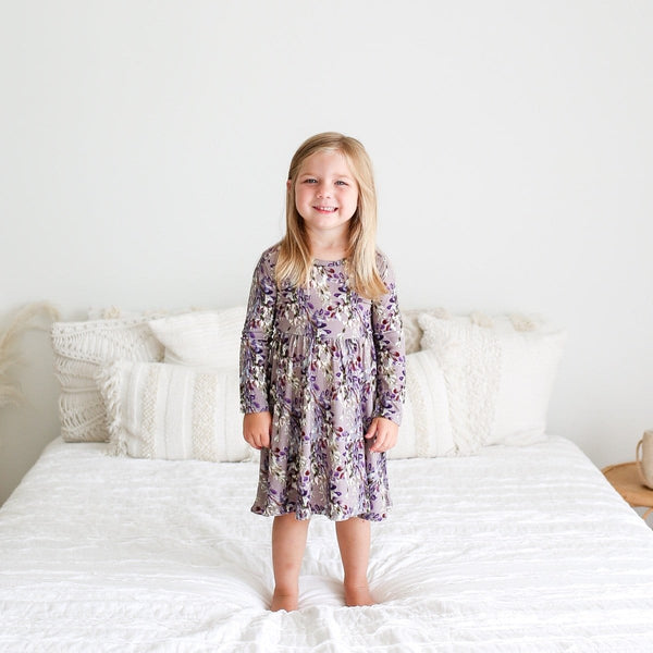 Trinity Floral Long Sleeve Twirl Dress