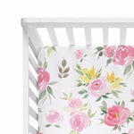 Watercolor Bloom Crib Sheet