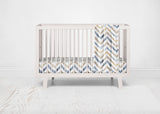 Neutral Watercolor Chevron Crib Sheet - FINAL SALE