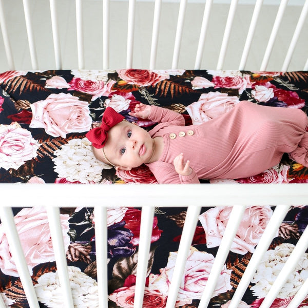 Zoey Floral Crib Sheet