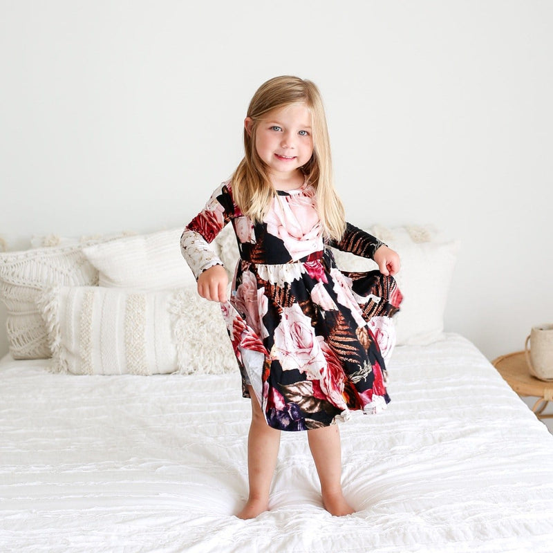 Zoey Floral Long Sleeve Twirl Dress