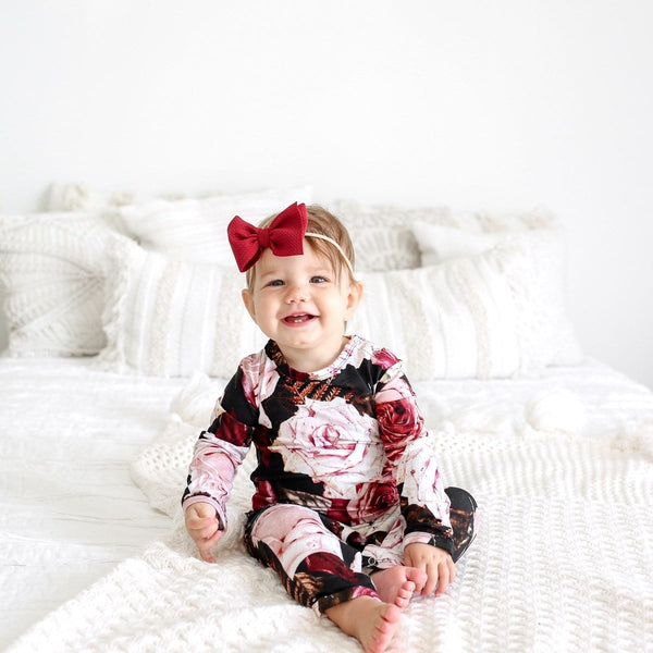 Zoey Floral Ruffled Romper