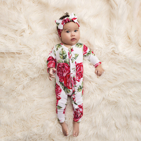 Dolce Red Rose One Piece Romper