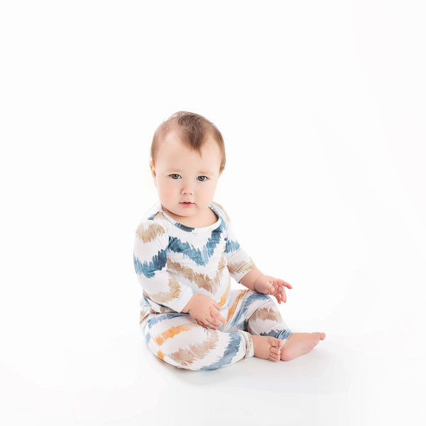 Neutral Watercolor Chevron Pajamas - FINAL SALE