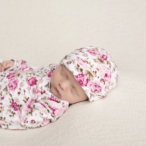 Newborn Floral Beanie - FINAL SALE