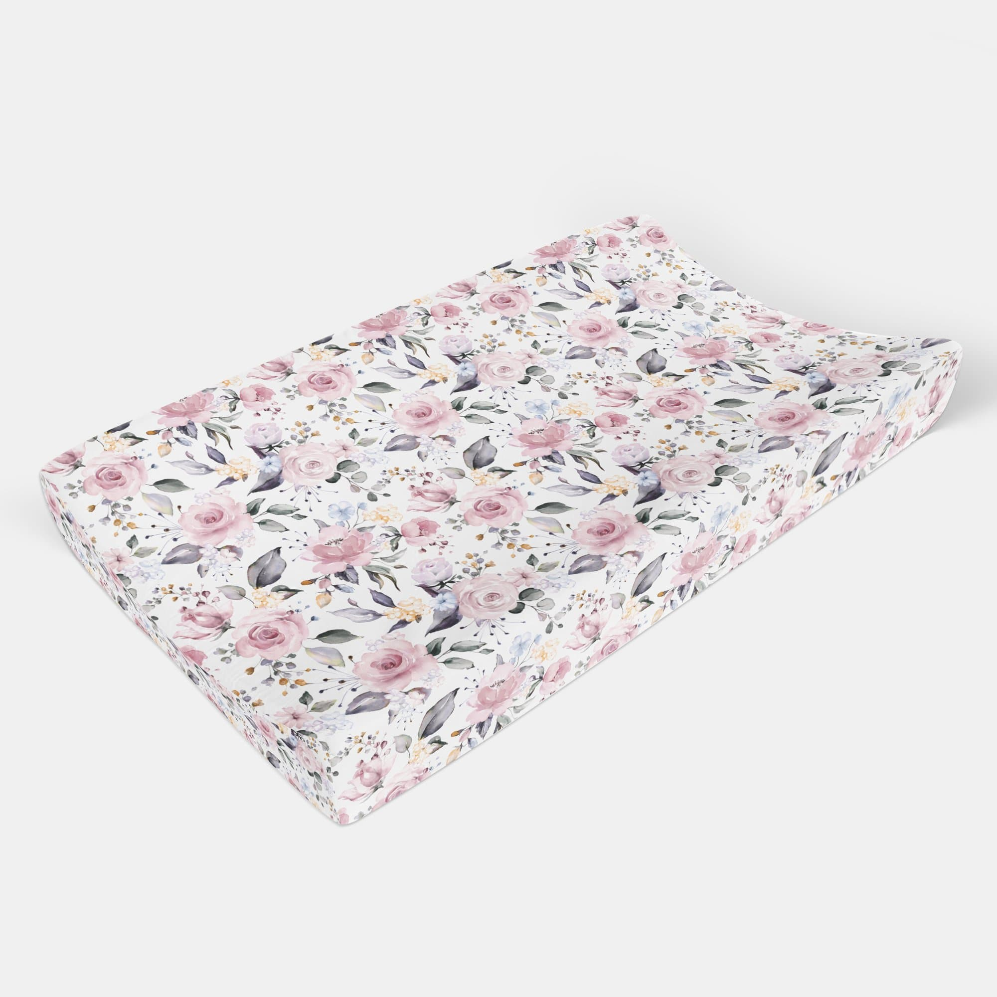 Pink Blossom Changing Pad Cover