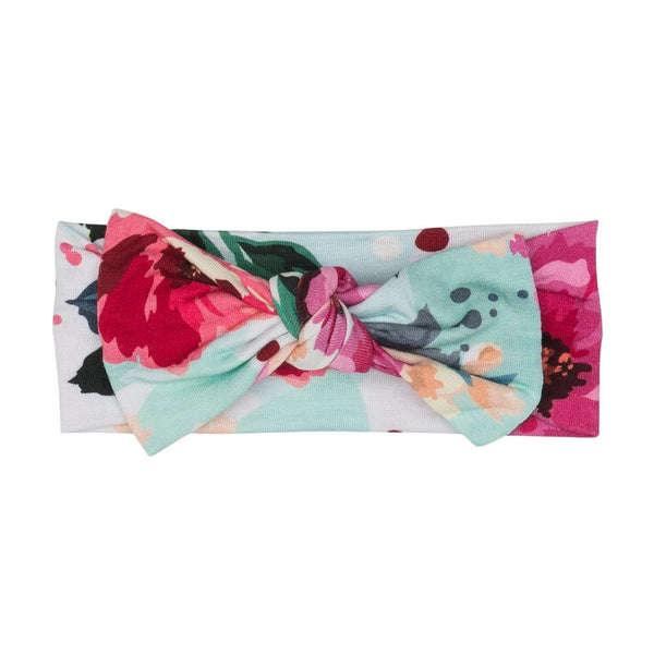 Fuchsia Wild Flower Headwrap - FINAL SALE