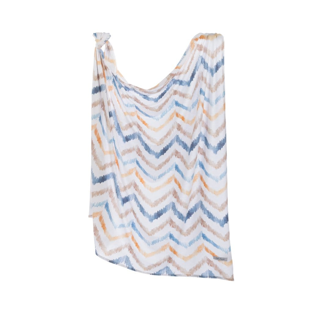 Neutral Watercolor Chevron Swaddle Set