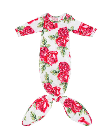 Dolce Rose Baby Layette Knotted Gown