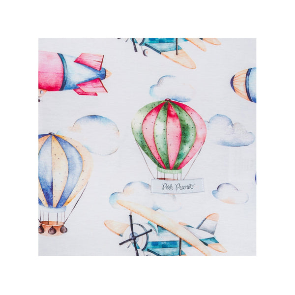 Vintage Airplane and Hot Air Balloon Swaddle Set FINAL SALE