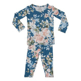 Posh-Peanut-Viscose-Bamboo-Stay-dry-fabric-reliably-chic-and-perfectly-practical-uniquely-designed-of-a-kind-posh peanut loungewear pajamas in blue rose