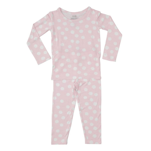 Posh-Peanut-Viscose-Bamboo-Stay-dry-fabric-reliably-chic-and-perfectly-practical-uniquely-designed-of-a-kind-loungewear in pink polkadot