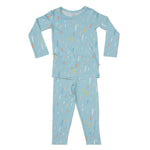 Posh-Peanut-Viscose-Bamboo-Stay-dry-fabric-reliably-chic-and-perfectly-practical-uniquely-designed-of-a-kind-teal raindrops two piece loungewear
