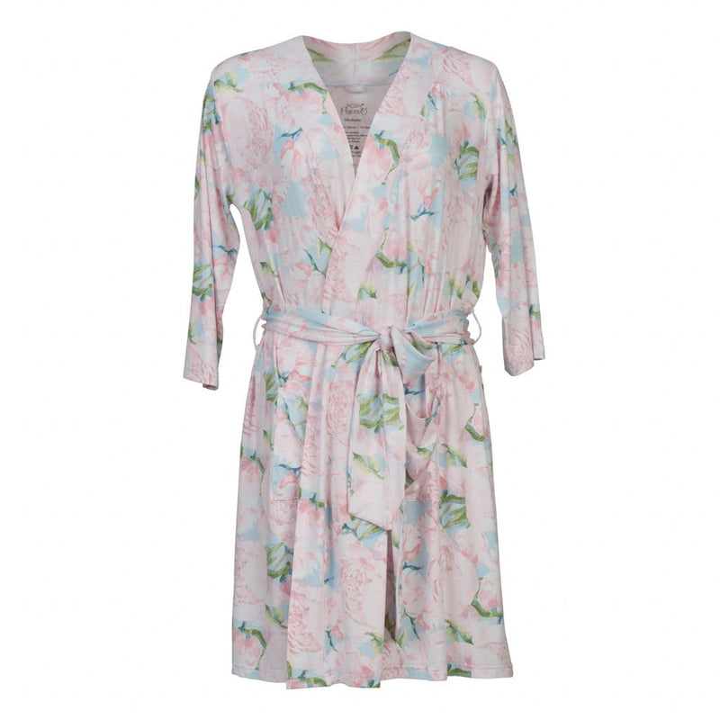 Posh-Peanut-Viscose-Bamboo-Stay-dry-fabric-reliably-chic-and-perfectly-practical-uniquely-designed-of-a-kind-pink peony mommy robe
