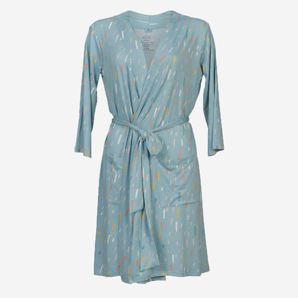 Teal RainDrops Robe - FINAL SALE
