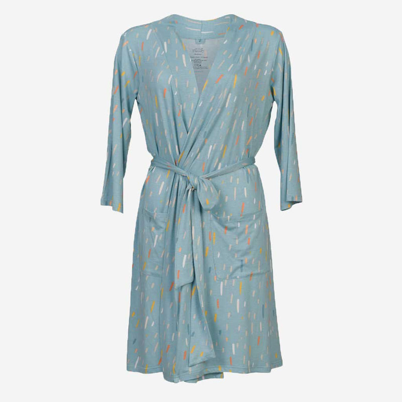 Teal RainDrops Robe