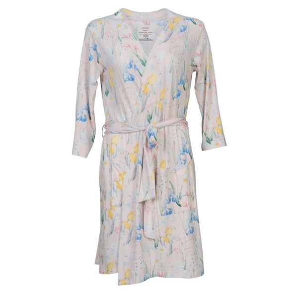 Posh-Peanut-Viscose-Bamboo-Stay-dry-fabric-reliably-chic-and-perfectly-practical-uniquely-designed-of-a-kind-wild spring floral mommy robe