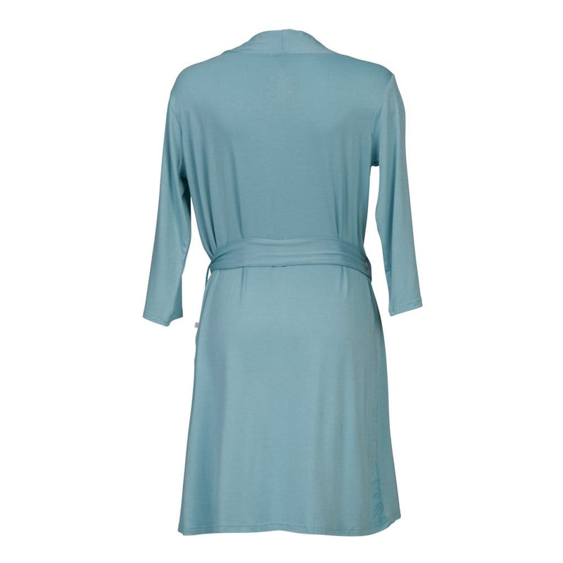 Posh-Peanut-Viscose-Bamboo-Stay-dry-fabric-reliably-chic-and-perfectly-practical-uniquely-designed-of-a-kind-mommy-robe-in-teal