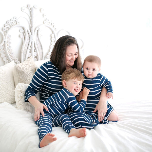 Sailor Blue & White Stripe Pajamas - FINAL SALE
