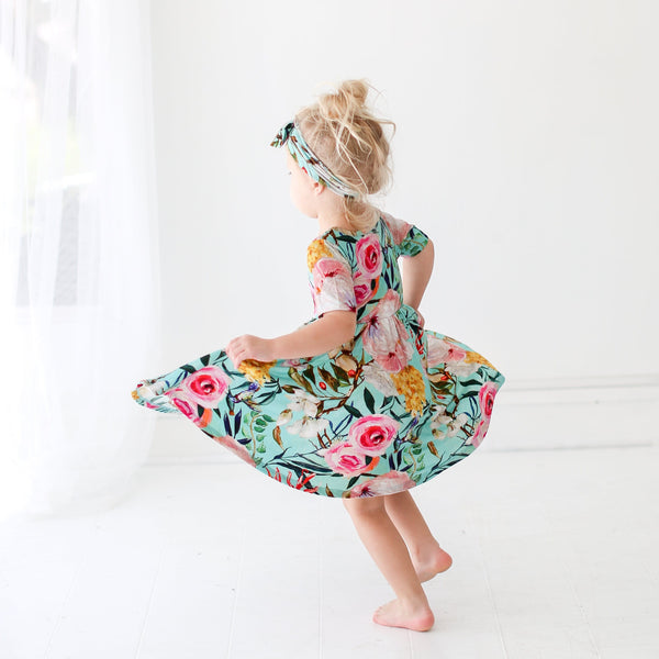 Tuscan Teal Twirl Dress - FINAL SALE