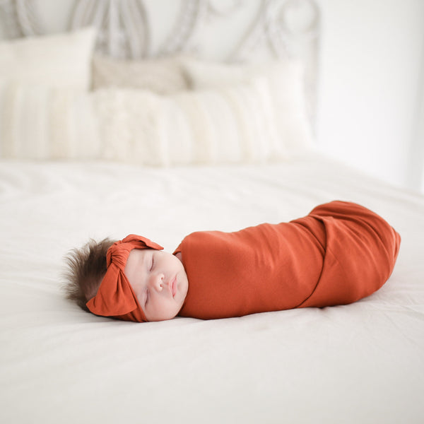 Rust Swaddle Headband Set - FINAL SALE