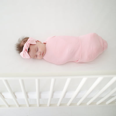 Pink Swaddle Headband Set