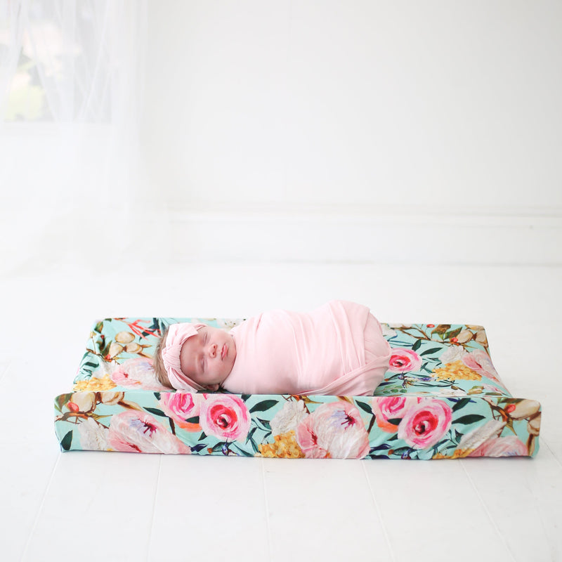 beautiful changing pad floral covers