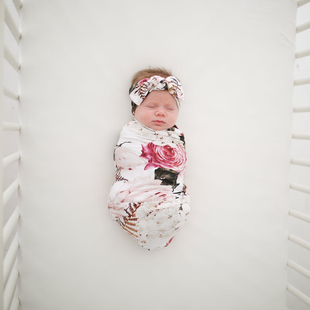 Cute Baby Swaddles Floral Girl Baby Swaddle Posh Peanut