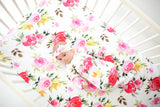 Watercolor Bloom Layette Knotted Gown