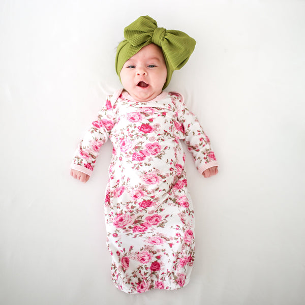 Floral Newborn Gown - FINAL SALE