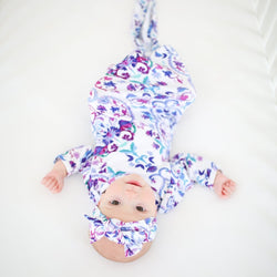 Mandala Baby Layette Knotted Gown - FINAL SALE