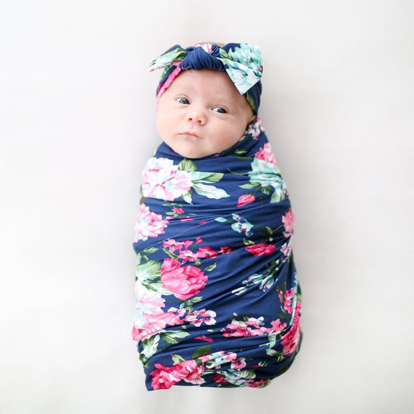floral baby swaddle
