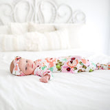 Winter Peony Layette Knotted Gown