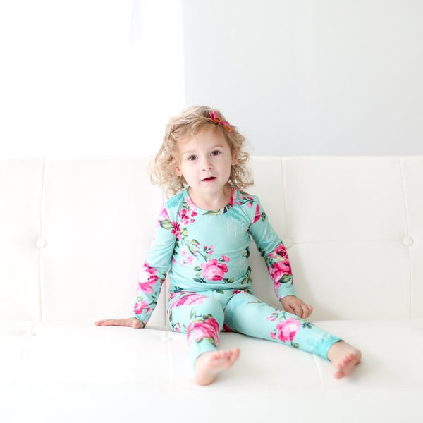 floral toddler pajamas