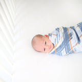 Blue Plaid Muslin Swaddle - FINAL SALE