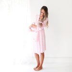 Pink & White Stripe Robe
