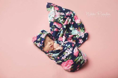 f0e2eb548 Floral Swaddle | Jersey Knit Baby Swaddle For Newborn Baby Girls