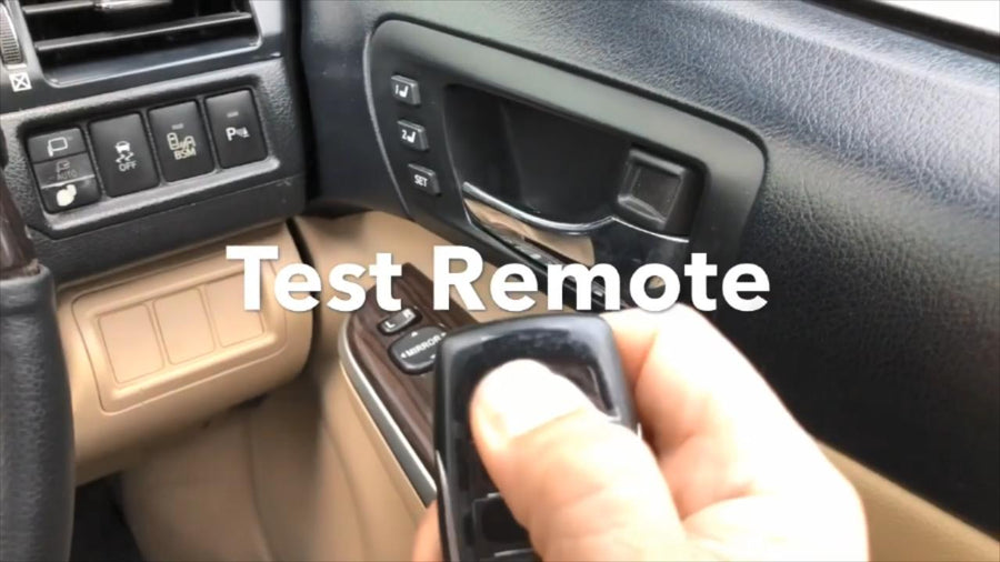 all key lost on 2017 Toyota Camry Step 8 Test Smart Key Remote