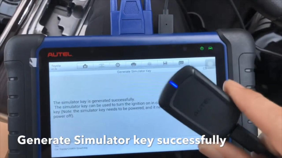 all key lost on 2017 Toyota Camry step six Generate Simulator Key con éxito