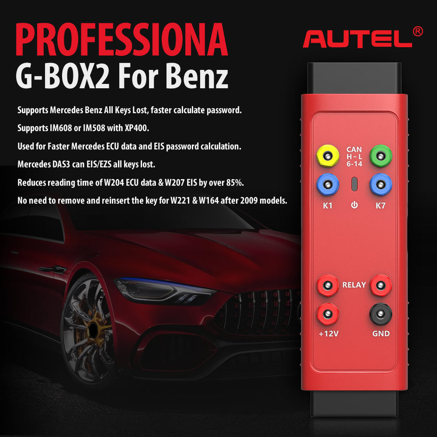 Autel Gbox2 professional for mercedes-benz all key lost