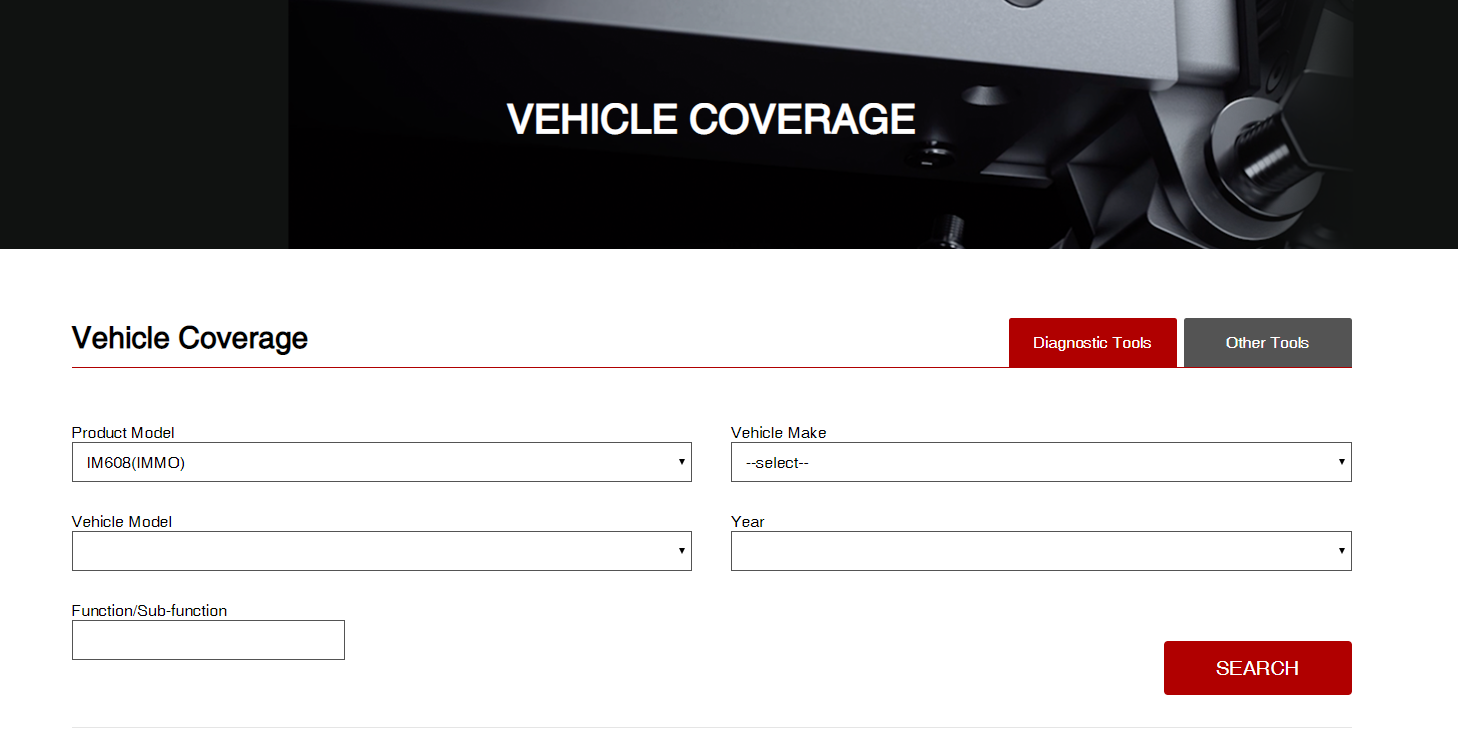 autel product vehicle coverage
