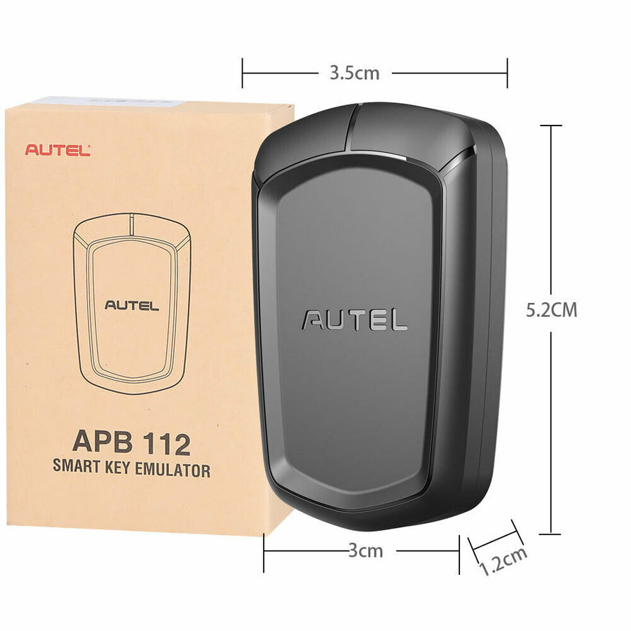 Autel APB112 Smart Key Simulator size