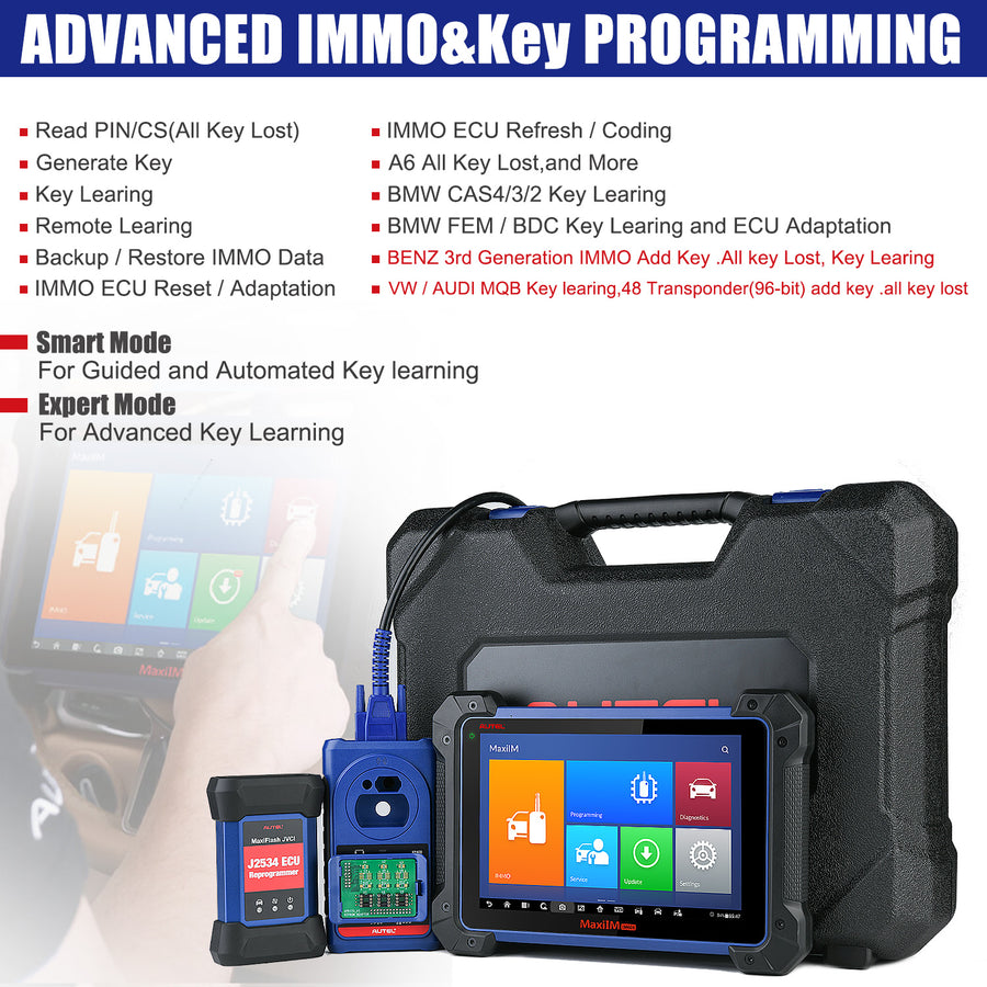 autel im608 key programming functions
