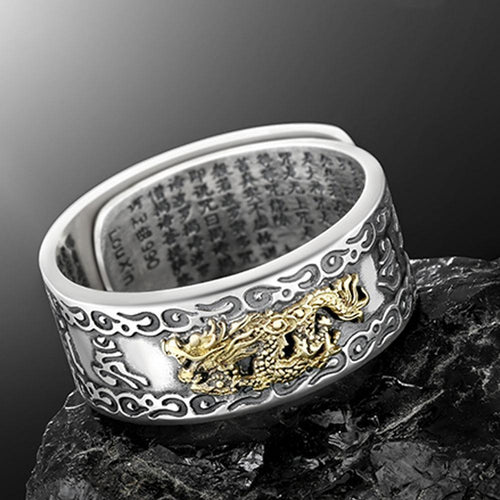 Adjustable FengShui Pixiu Ring For Men and Women