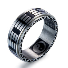 Load image into Gallery viewer, Titanium Steel Chinese Taoism Taiji Ring for Male